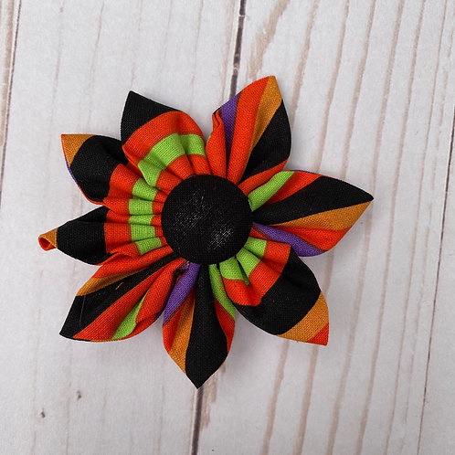 Halloween Striped Flower