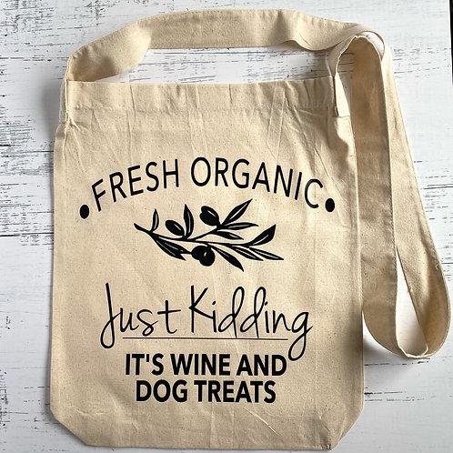Wine and Dog Treats Tote