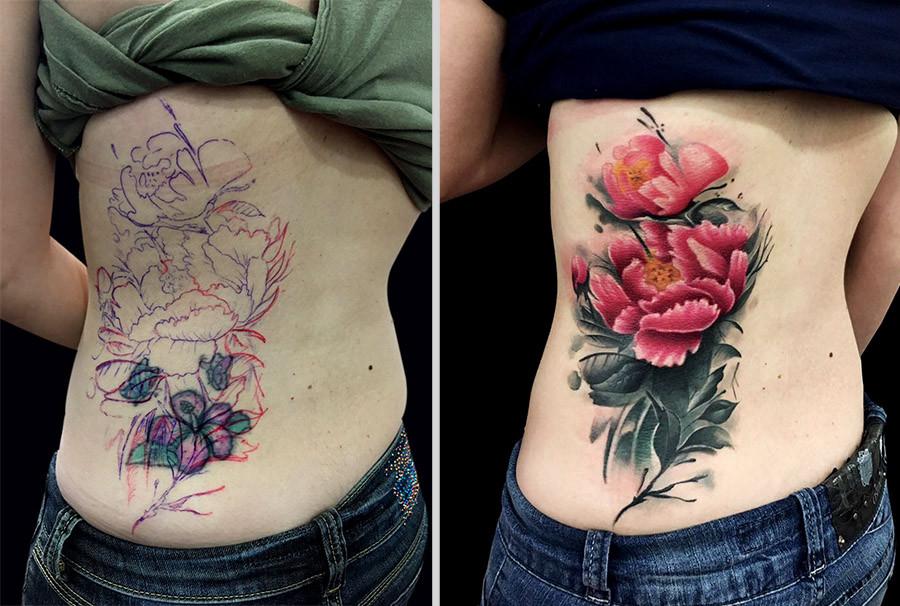 Cobertura de tatuagem feita por Tulio de Paula