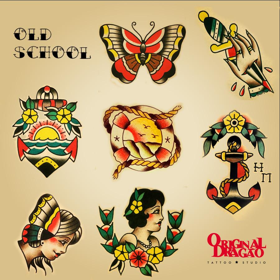 Tattoos Old School de Hudson Mateus - Original Dragçao BH