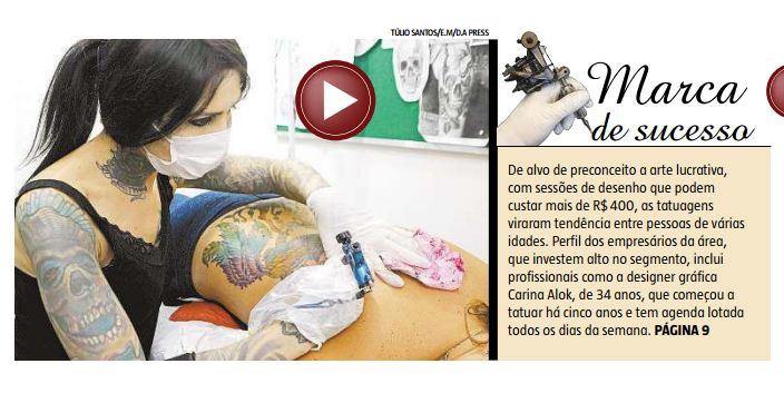 Mercado de Tatuagem em BH - Estado de Minas