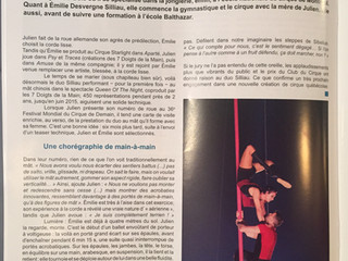 Interview in the ''Univers''magazine