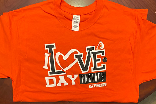 Orange I LOVE DAY PARTIES