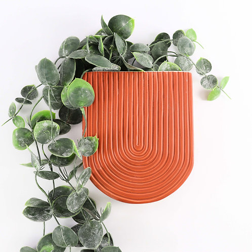 Wall Vase (Terracotta)