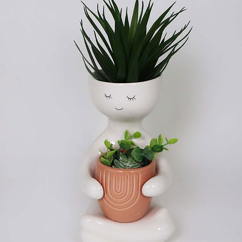 Plant hug pot (navy and mustard only)