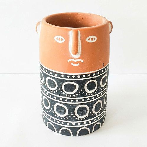 Aztec Person Planter