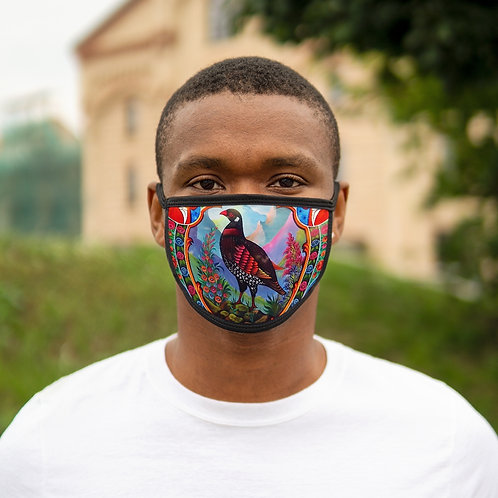 Black Partridge - Mixed-Fabric Face Mask