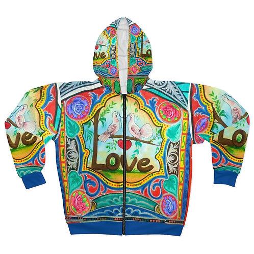 Love - AOP Unisex Zip Hoodie