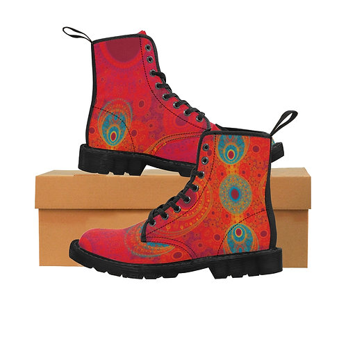 Rainbow - Women's Canvas Boots