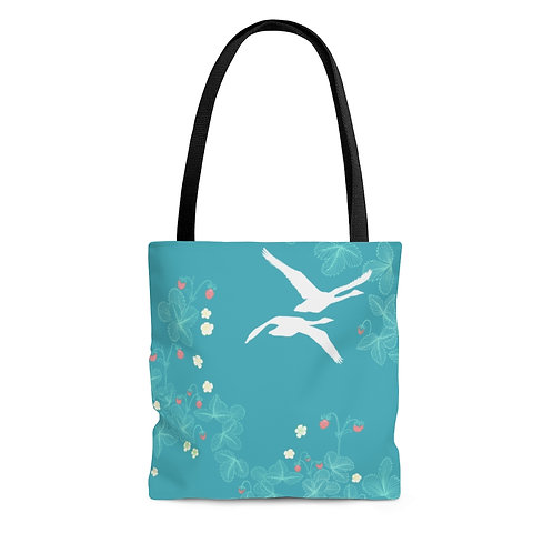 Strawberry Swans - AOP Tote Bag