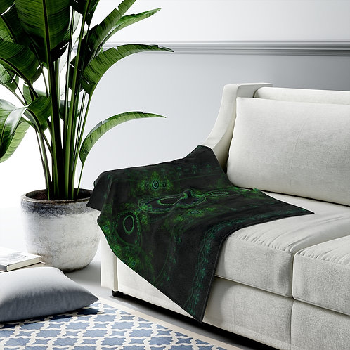 Forest - Fractal Design Velveteen Plush Blanket