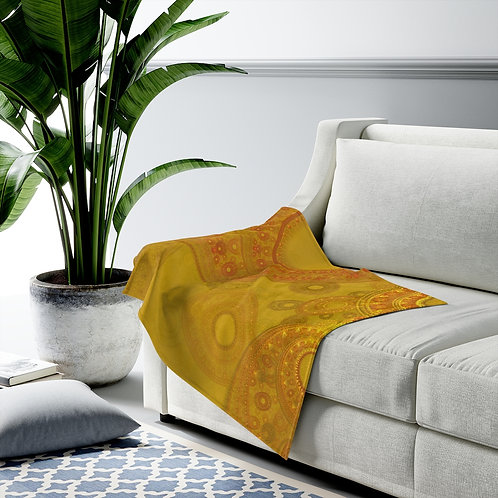 Lapponia - Fractal Design Velveteen Plush Blanket