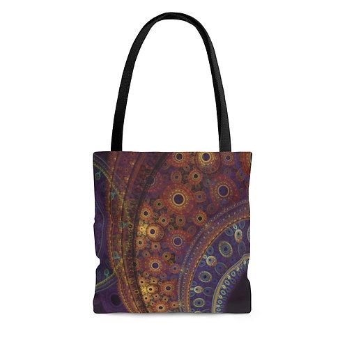 Aurora - Fractal Design AOP Tote Bag