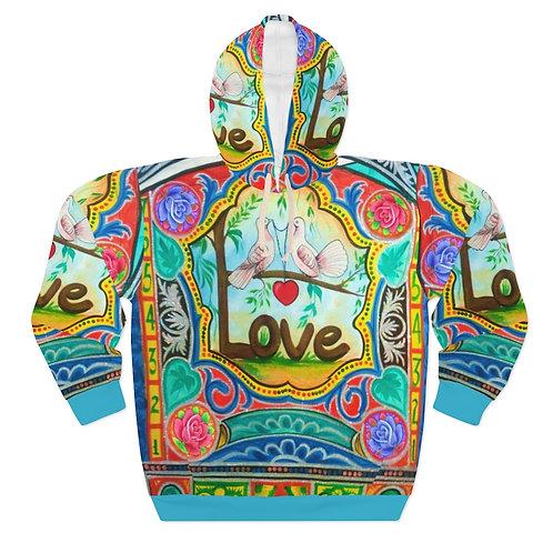 Love - AOP Unisex Pullover Hoodie