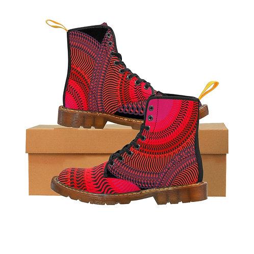 Eclipse Women's Canvas Boots, Brown Soles