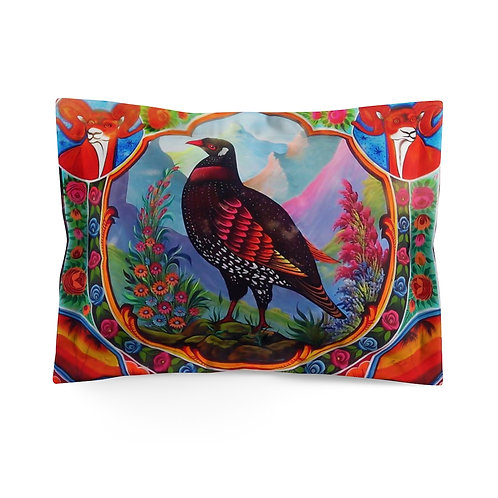 Black Partridge - Microfiber Pillow Sham