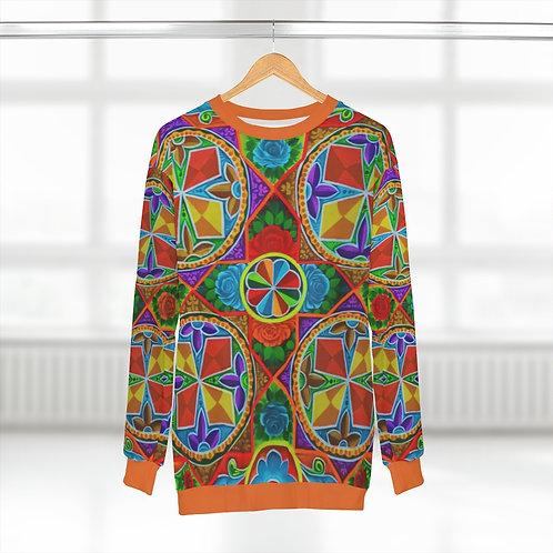 Orange Propeller - AOP Unisex Sweatshirt
