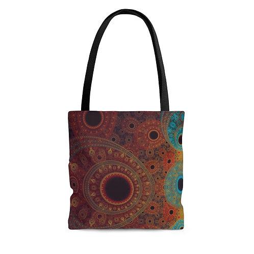 Bear - Fractal Design AOP Tote Bag