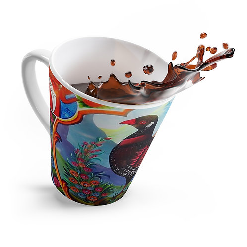 Black Partridge - Latte mug