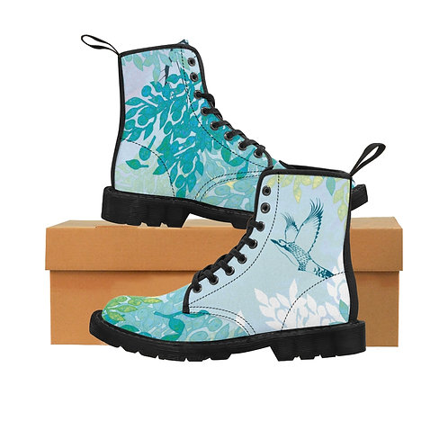 White Night - Women's Canvas Boots
