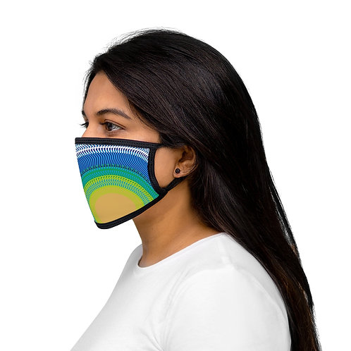 Planet Earth - Mixed-Fabric Face Mask