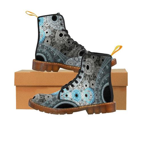 Cliff Men's Canvas Boots, Brown Sole