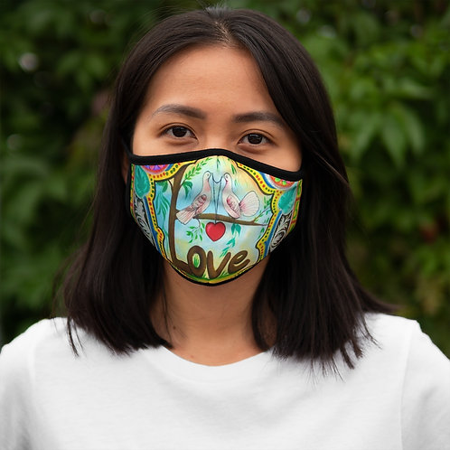 Love - Fitted Polyester Face Mask