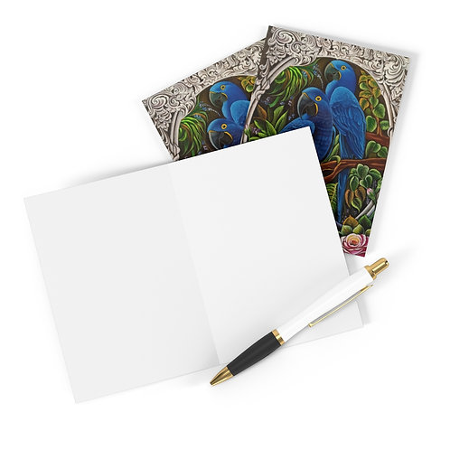 Blue Macaw - Greeting Cards (8 pcs)