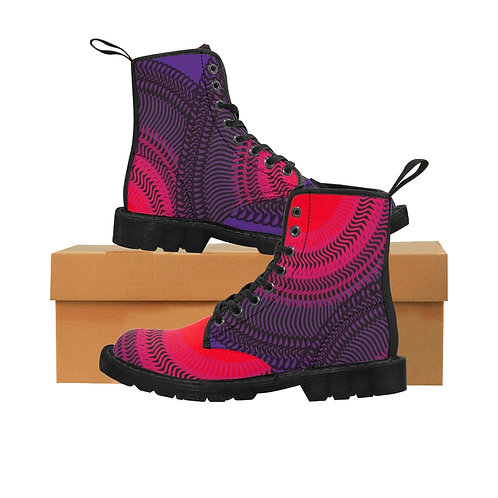 Wolf Moon - Women's Canvas Boots