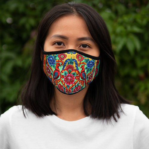 Red Birds - Fitted Polyester Face Mask