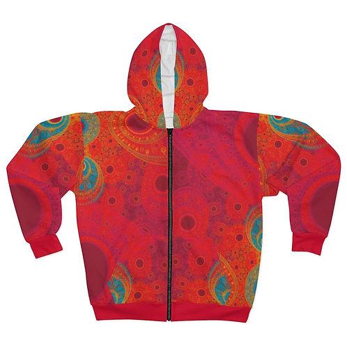 Rainbow - AOP Unisex Zip Hoodie
