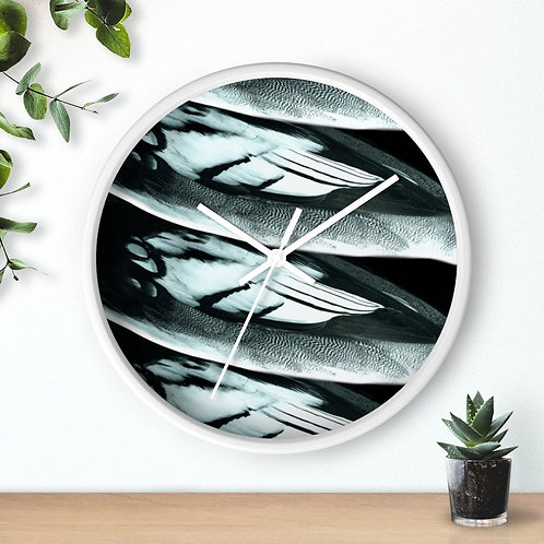 Feathers - Wall clock