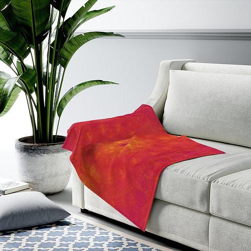 Sun - Fractal Design Velveteen Plush Blanket