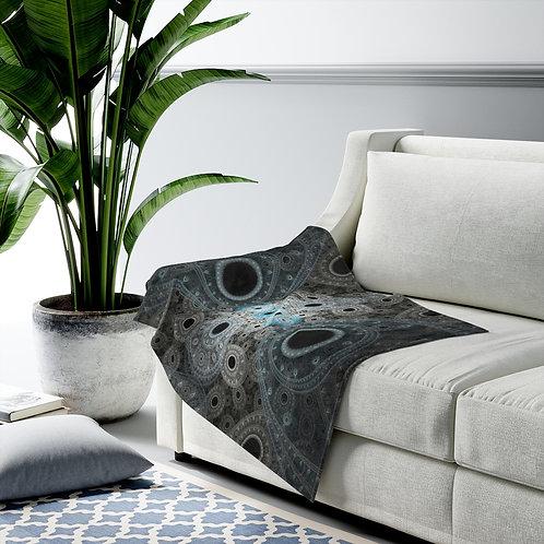 Cliff - Fractal Design Velveteen Plush Blanket