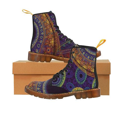Aurora Men's Canvas Boots, Brown Sole