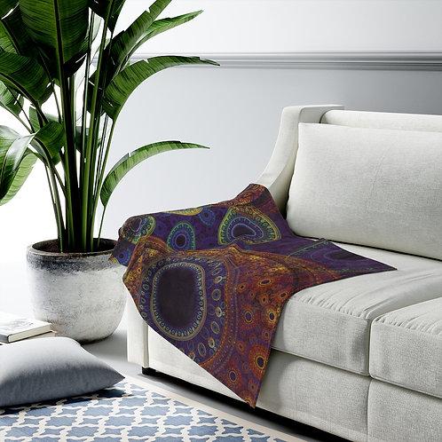 Aurora - Fractal Design Velveteen Plush Blanket