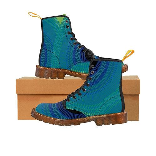 Blue Moon Men's Canvas Boots, Brown Sole