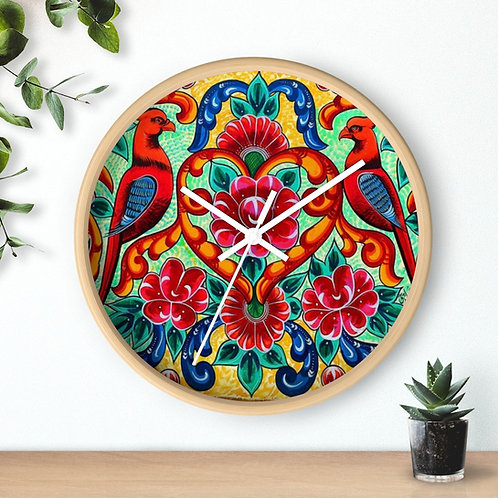 Red Birds - Wall clock
