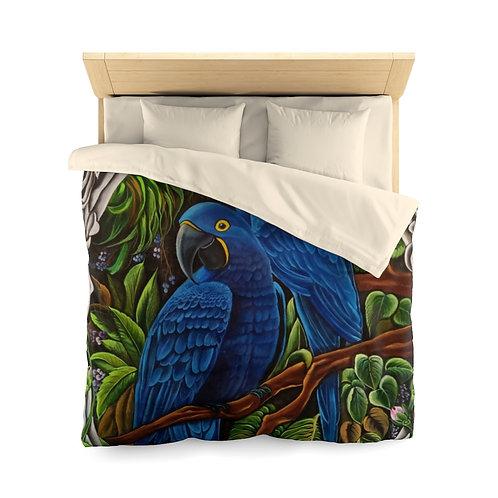 Blue Macaw - Microfiber Duvet Cover