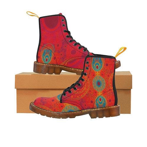 Rainbow Men's Canvas Boots, Brown Sole