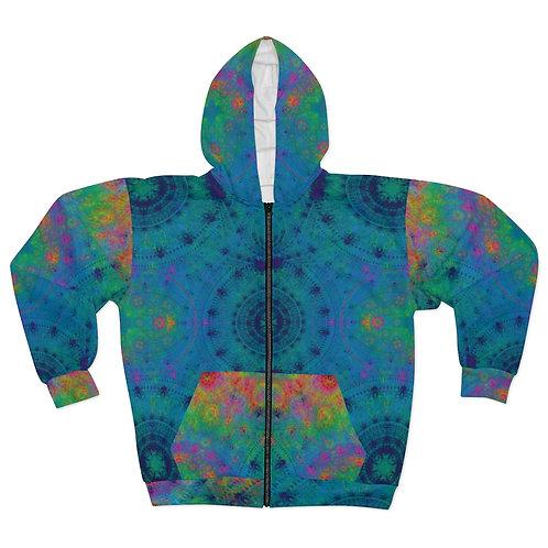 Spectrolite- AOP Unisex Zip Hoodie