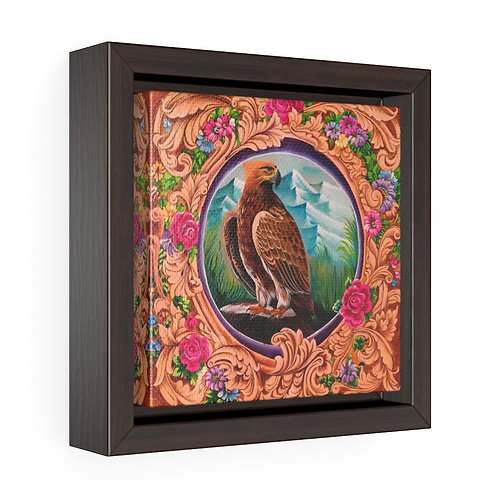 Eagle - Square Framed Premium Gallery Wrap Canvas
