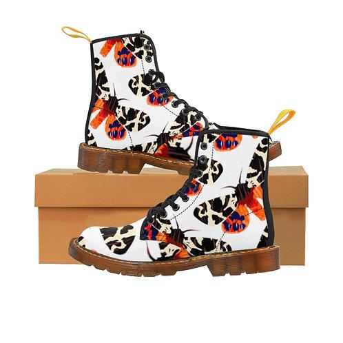 Moth Women's Canvas Boots, Brown Soles