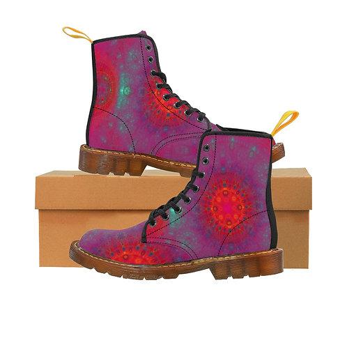 Joiku Men's Canvas Boots, Brown Sole