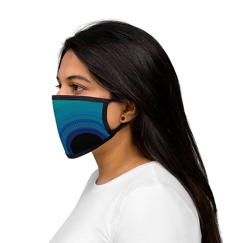 Blue Moon - Mixed-Fabric Face Mask