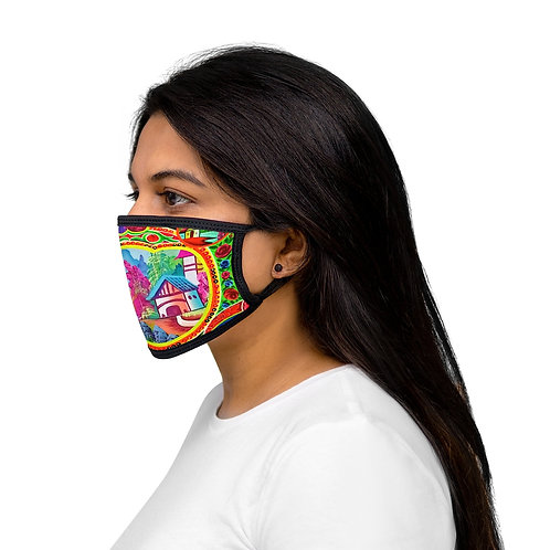 Sweet Home - Mixed-Fabric Face Mask
