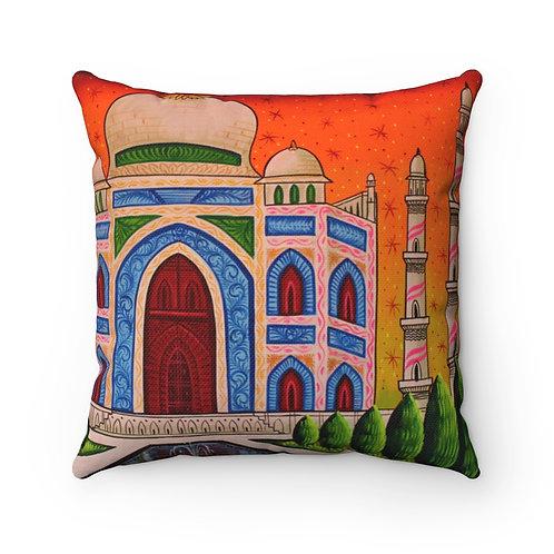 Taj Mahal - Spun Polyester Square Pillow Case