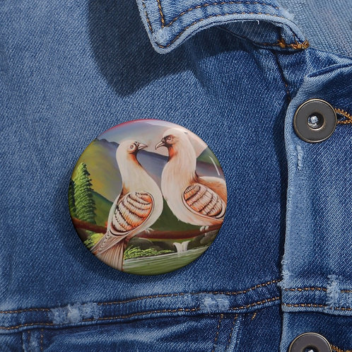 Lovey Doves - Pin Buttons