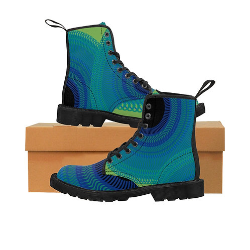 Blue Moon - Women's Canvas Boots