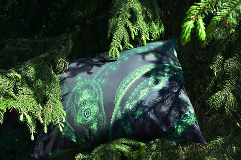 Fractal art Design Kuu Forest pillow case